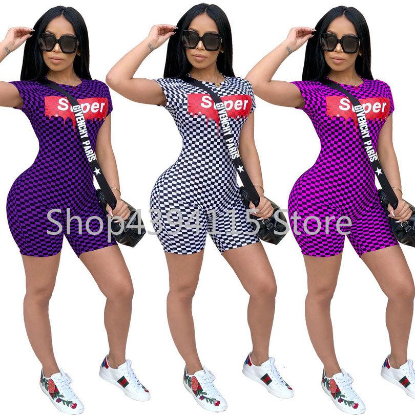 ebb621fcc488 2019 Bikershortsplus Size 2019 Sexy Plaid Bodycon Playsuit Tracksuit Rompers  Womens Jumpsuits LIIP Body Feminino Overalls From Hoto
