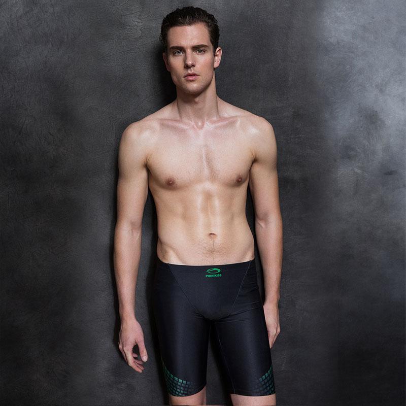 1816c40dba59 Hombres Bañador de competición Pantalones de natación Traje de baño  profesional de piel de tiburón Pantalón de baño Calzoncillos deportivos  Pantalones ...