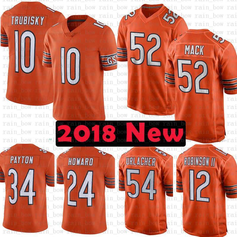 buy online c545b 33cc0 52 Khalil Mack Chicago Bears Jersey 34 Walter Payton 54 Brian Urlacher 29  Tarik Cohen 96 Akiem Hicks 39 Eddie Jackson 51 Butkus Ditka Smith