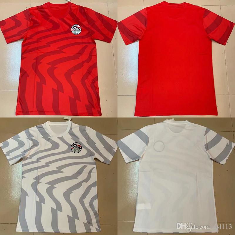 hot sales 5fc31 ae48f Egyptian jersey 2019 Africa Cup home Egypt national team football uniform  Elneñah Salah ELNEUY MOHAMMAOI Bo shirt 2019 2020