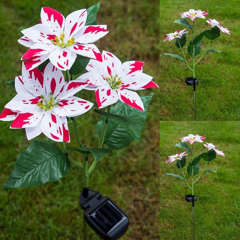 Solar Powered Forma Fiore luci LED esterna del giardino del prato inglese di paesaggio della decorazione