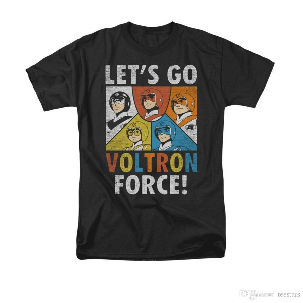 2018 Short Sleeve Cotton T Shirts Man Clothing Voltron Lets Go Voltron Force Adult T ShirtHigh Quality T-Shirt