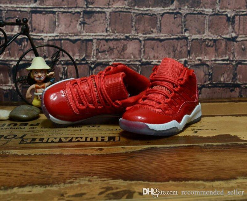 5a56d86f7946 Youth Shoes Retro Eleven 11 Gym Red 2018 Concord 45 Space Jam Bred Legend  Blue Basketball Shoes Children Boys Girls Retro Kids 11s Sneakers Best Youth  ...