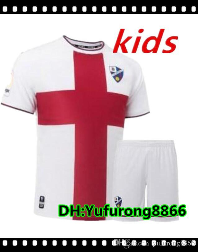 412680906 2018 2019 Top Thai Quality SD Huesca Kids Jersey 18 19 Home Away LEO ...