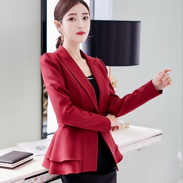 d62a45b49382b Compre Estilo Coreano Damas Traje Casual Abrigos Mujer Primavera Otoño Moda  Blazer Slim 2019 Mujeres Blazer Mujer Negro Blanco Rojo Rosa Azul A  38.67  Del ...