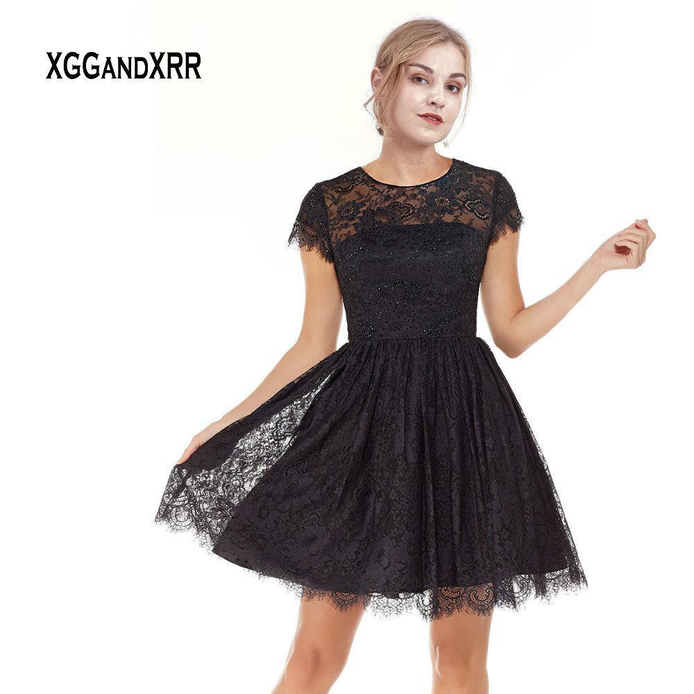 Vestidos negro elegante corto