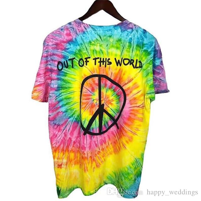 26234feddd8f 19ss Travis Scott Astroworld Europe Tie Dye T Shirt Men Women 1a:1 ...