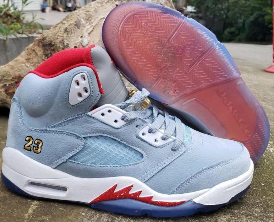 meet 299bd 77415 Mens J5 Basketball shoes retro jumpman 5S Bel Air flight AJ 5 oreo Man kids  boots Sport Sneakers US7-13 00