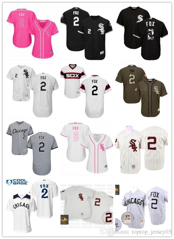 pretty nice 0baab f9859 2018 top Chicago White Sox Jerseys #2 Nellie Fox Jerseys  men#WOMEN#YOUTH#Men s Baseball Jersey Majestic Stitched Professional  sportswear