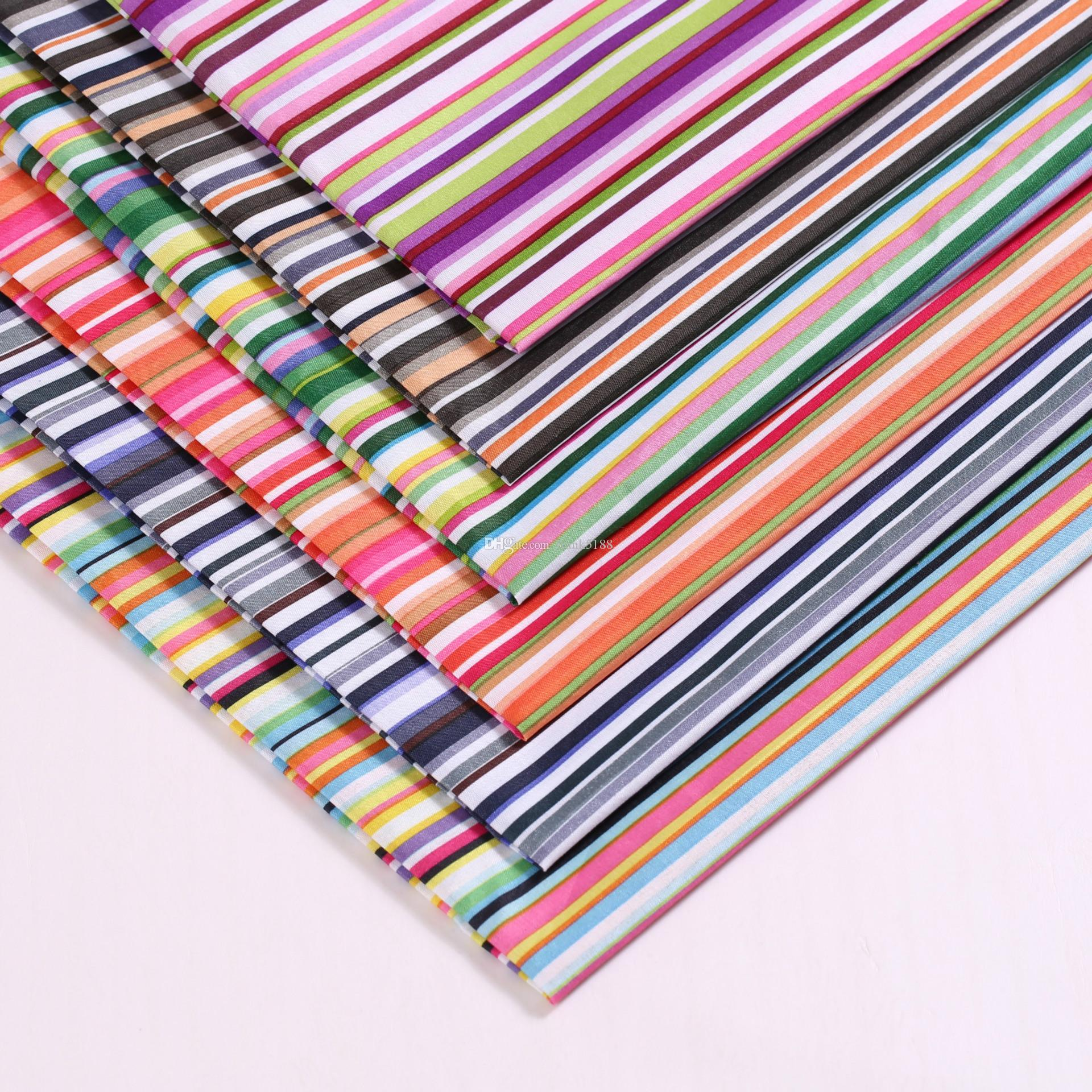 Colorful striped polyester fabric for Bedding textile or Sewing Tilda Doll DIY handmade materials table cloth fabric Width 150cm