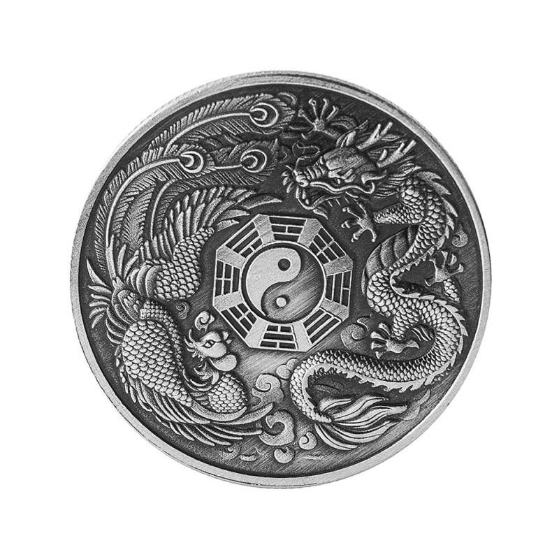 New Prosperity Brought By The Dragon And The Phoenix Gossip Commemorative Coin Art Crafts