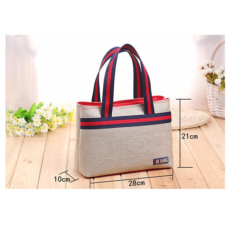 Ladies Canvas Casual Large Capacity Simple Wild Style Handbag High Quality Carry-On Travel Handbag Multi-Function Storage Bag