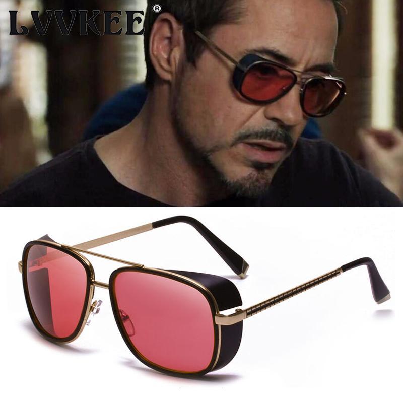 4080a88172 Compre LVVKEE Iron Man 3 Matsuda TONY Stark Gafas De Sol Hombre ...