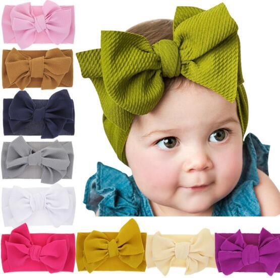 baby girl candy color big bow headband Design Capelli bowknot Bambini Copricapo Kids Hairpin Girls Baby Hair Accessory 10 colori B11