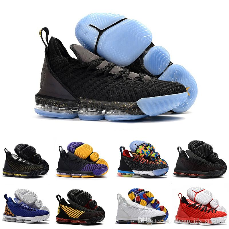 buy online b5f6d 8d891 lebron Shoes 16 basketball shoes 2019 Fruity Pebbles Gold Black Purple  Leopard Red Boys Girls Women youth Outdoor sneakers
