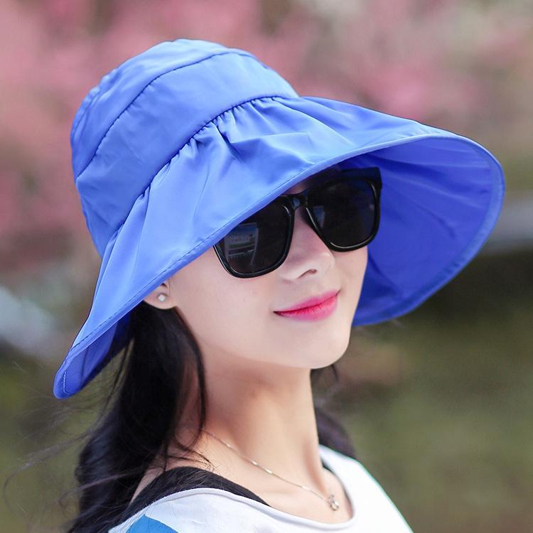 e0900c49cf14a Women S Adjustable Hat Cap Lady Visor Summer UV Protection Big Sun Cool  Empty Top Big Hats Men Hats Baby Sun Hat From Creativebar