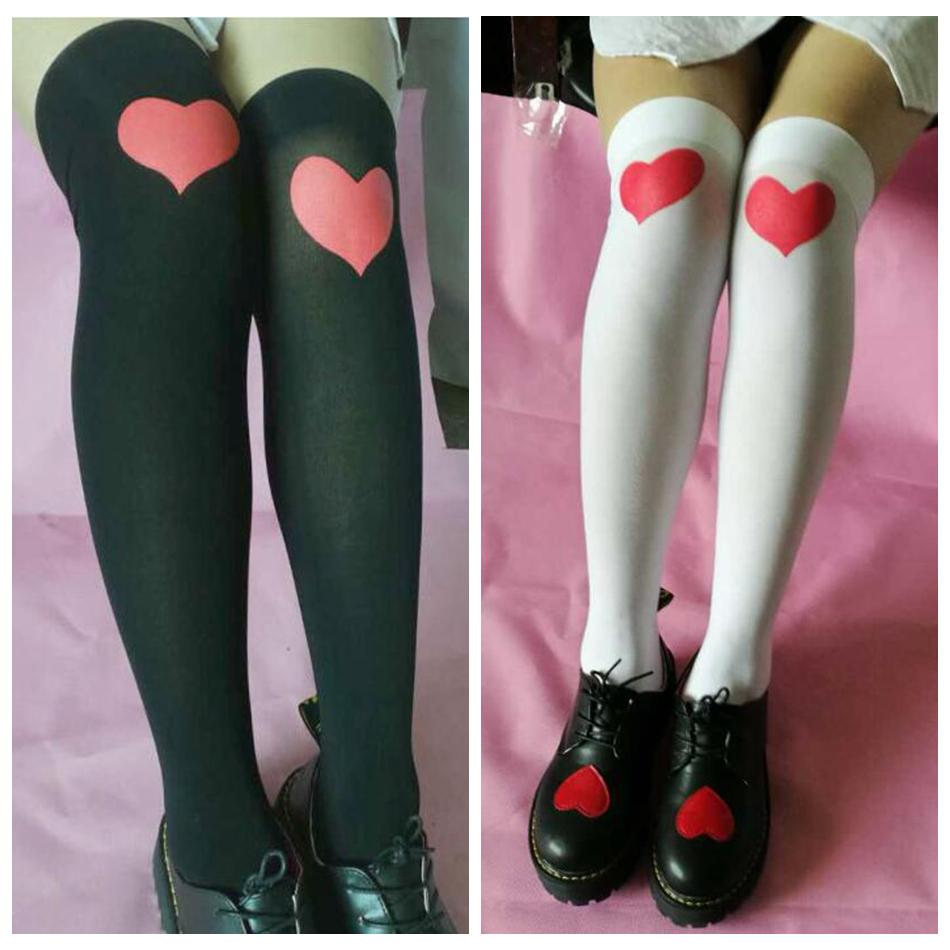 351e92962 2019 Heart Over Knee High Socks Valentine S Day Lover Printed Stocking High  Socks Party Favor  Pair OOA6123 From Good clothes