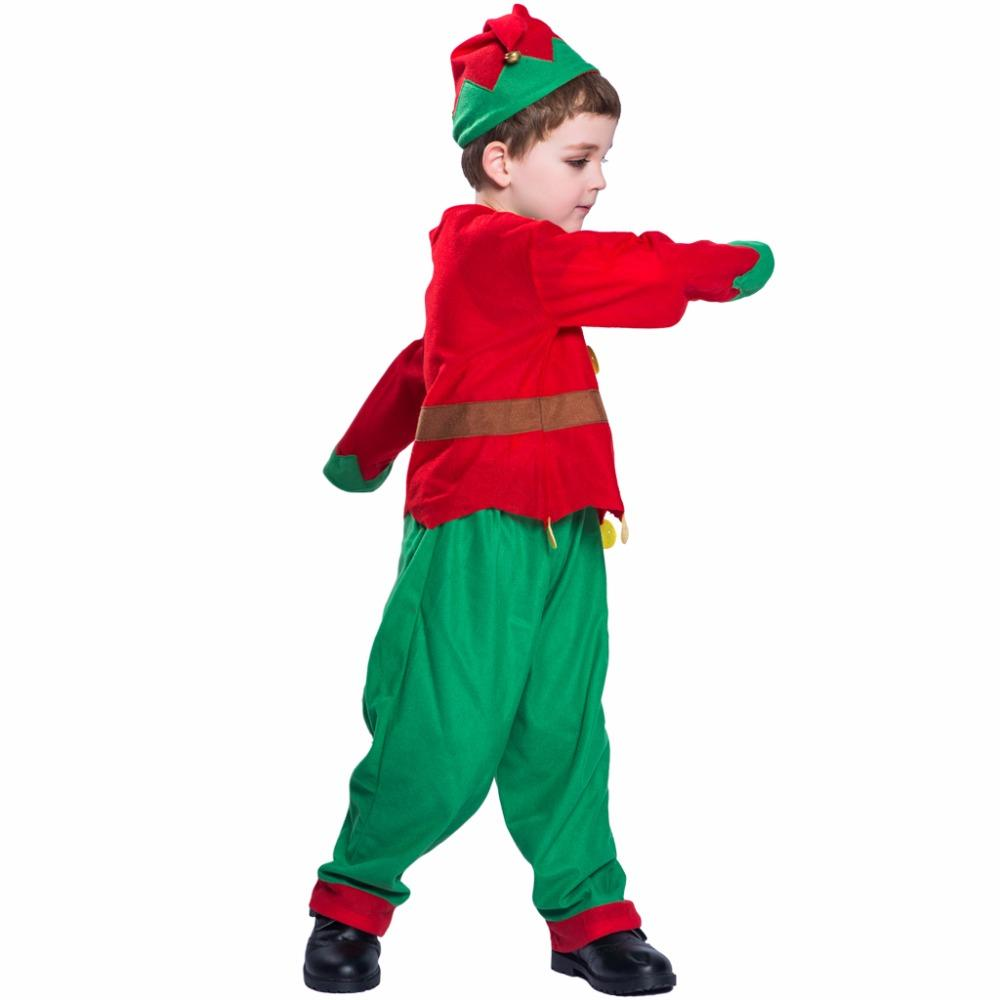 Osplay Costume Eraspooky Toddler Christmas Costume For Kids Santa Claus  Cosplay Boys Christmas Elf Clothes Uniform Hat Suit Child New Yea. eaaaa809b6