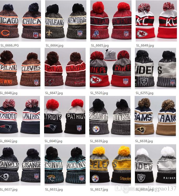 Wholesale Winter Beanie 2019 Knitted Hats All 32 Teams L Football Beanies  Sports Team Women Men Popular Fashion Winter Hat Cloche Hat Crochet Hats  From ... 6440c33a9