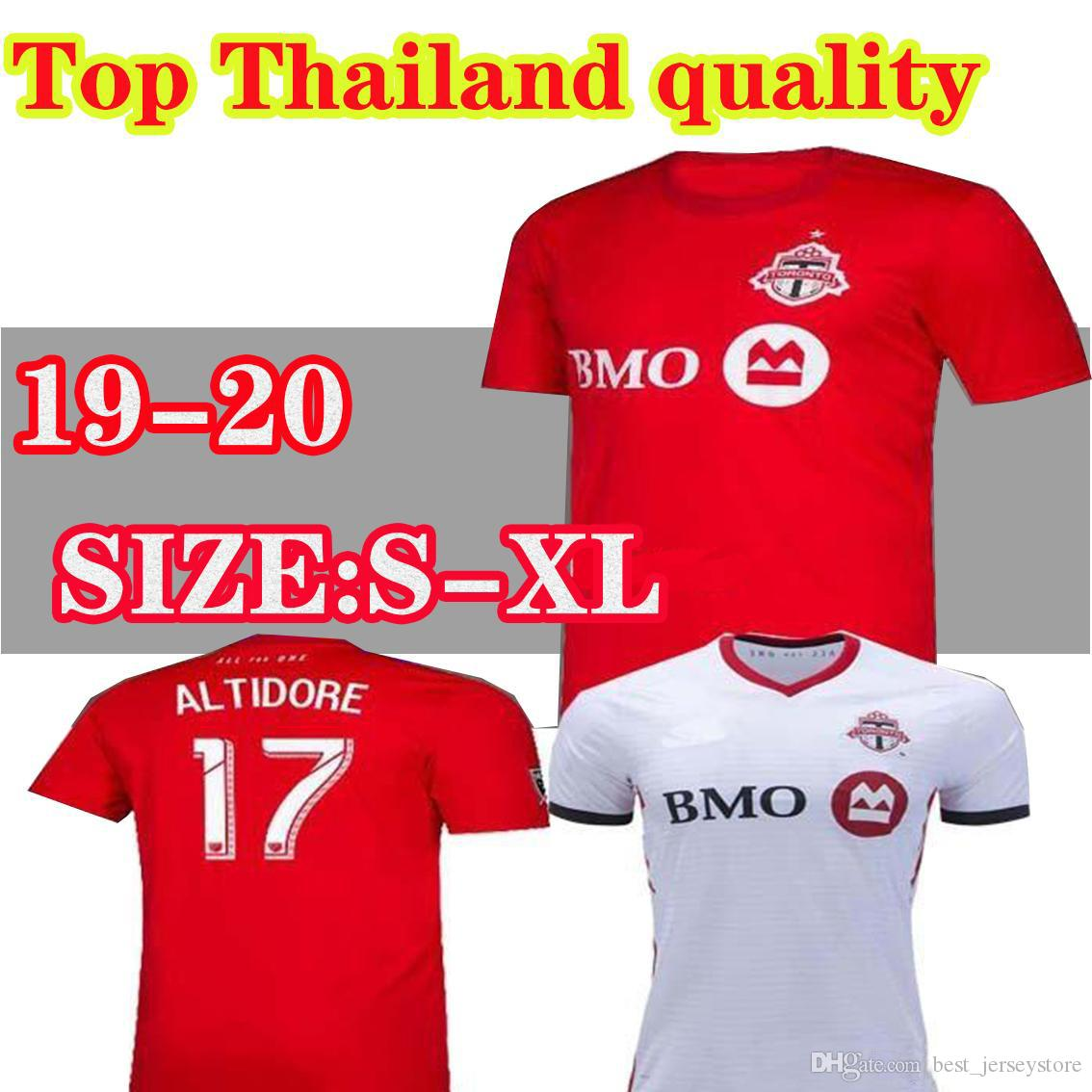 2019 2020 Toronto FC Soccer Jerseys BRADLEY GIOVINCO ALTIDORE OSORIO 19 20 Toronto Home Red Custom Football Shirt Uniform