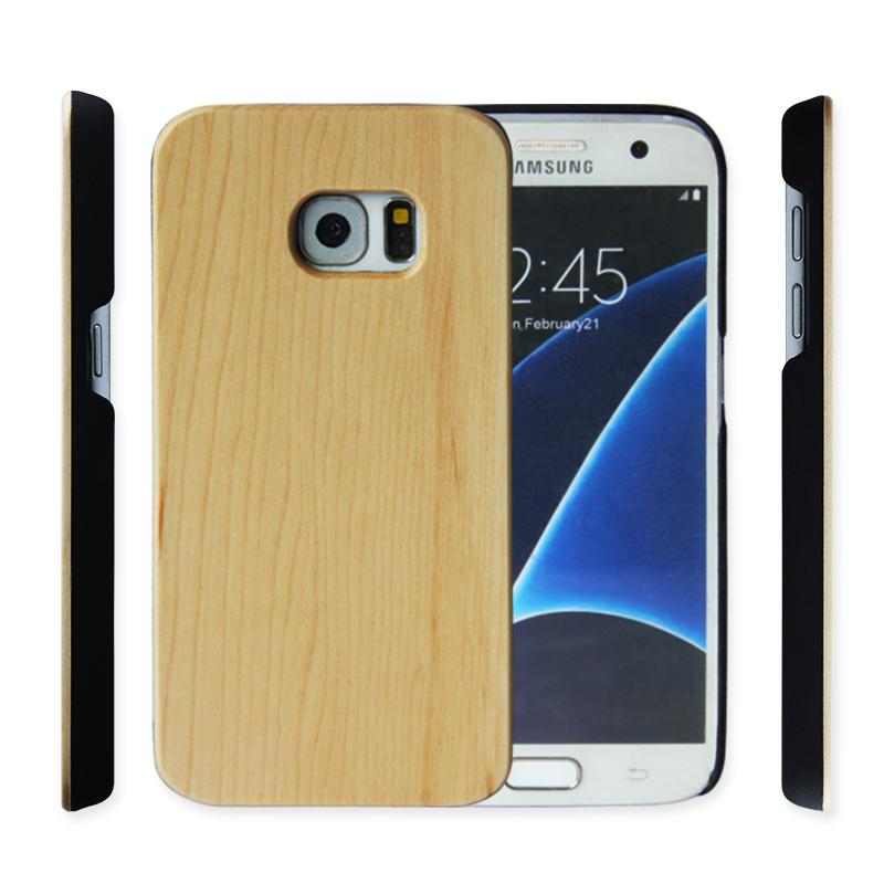 Handmade Geniune Wood Phone Case For Samsung Galaxy S7 S7edge S8 Plus Note 9 Bamboo Wooden With Pc Hard Back Cover Samsung S9