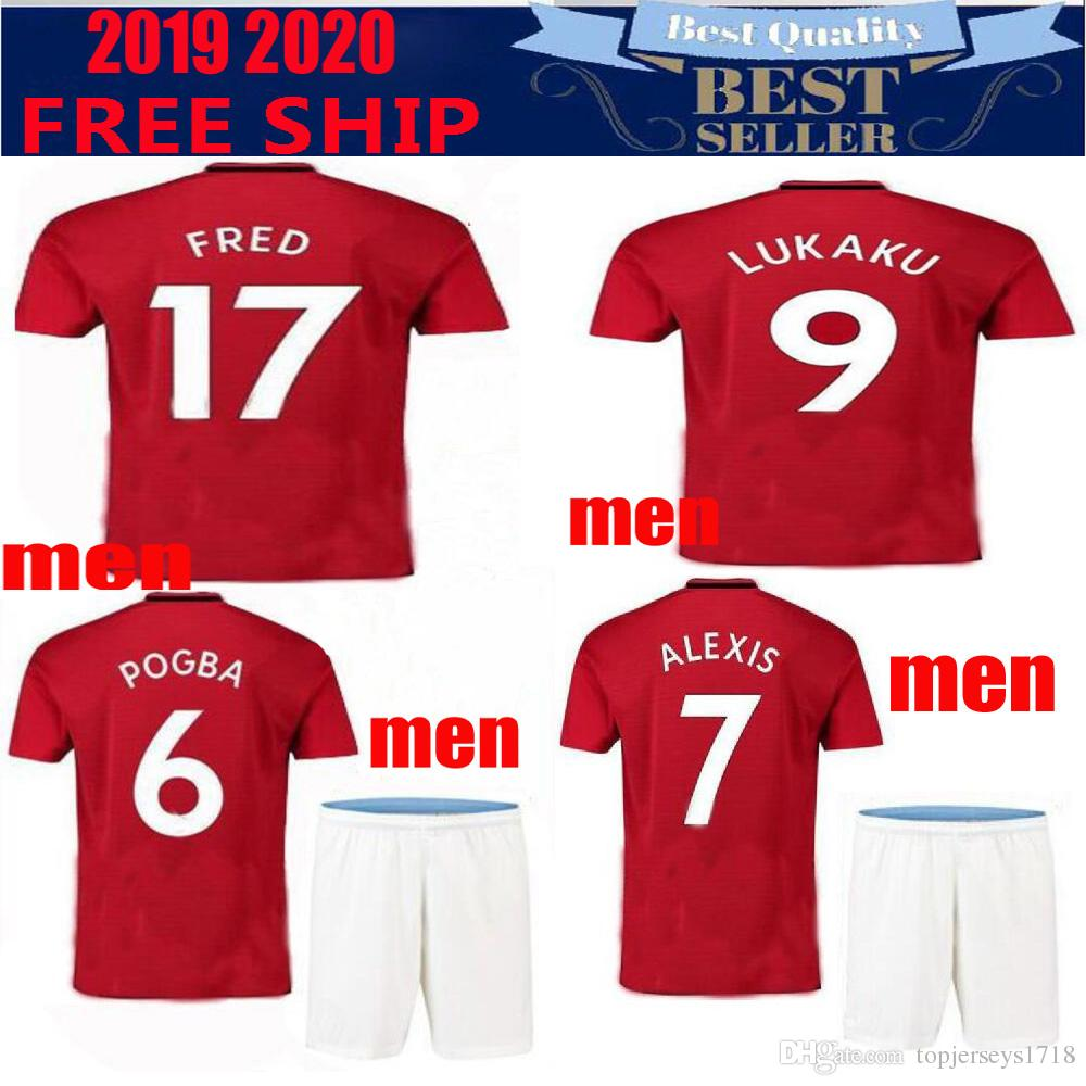 4af7abf951b 2019 New United 19 20 POGBA ALEXIS Utd Soccer Jersey LUKAKU 2018 RASHFORD  LINGARD MATA MATIC MARTIAL Jerseys Home Away 3rd Football Shirt From ...