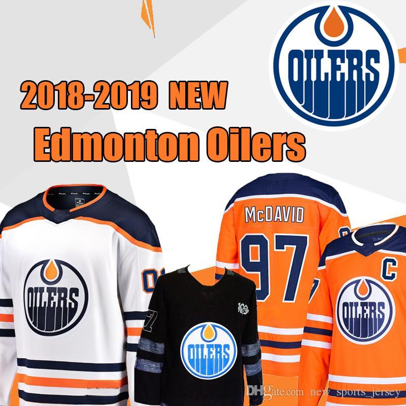 11923bbba Edmonton Oilers Men S Hockey Jerseys 99 Wayne Gretzky 97 Connor McDavid 93  Ryan Nugent Hopkins 27 Milan Lucic 100% Stitched Top Quality UK 2019 From  ...