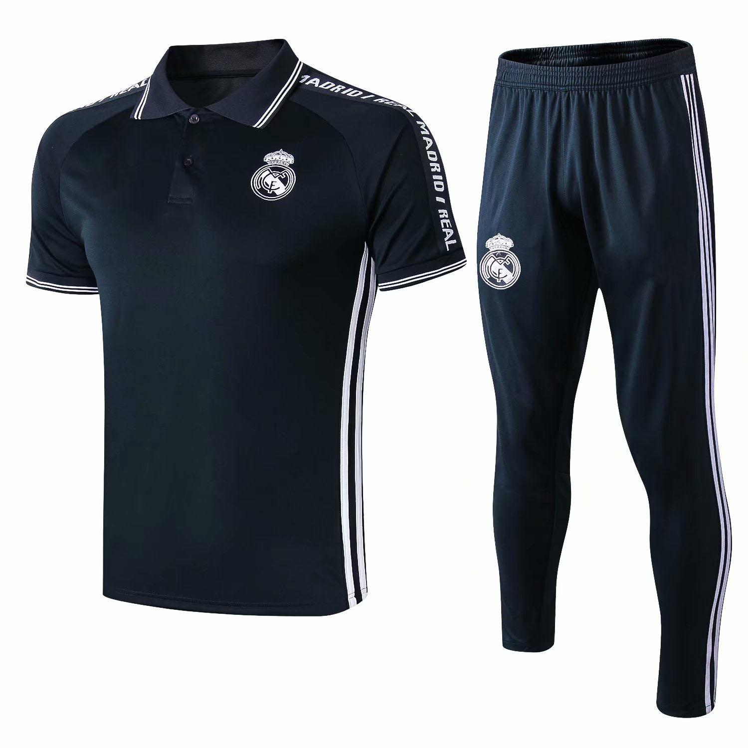 fed0f896 summer 19 20 MARCELO MODRIC KROOS BALE adult polo shirts 18 19 men's short  sleeve football tracksuits long trousers warms up training suits