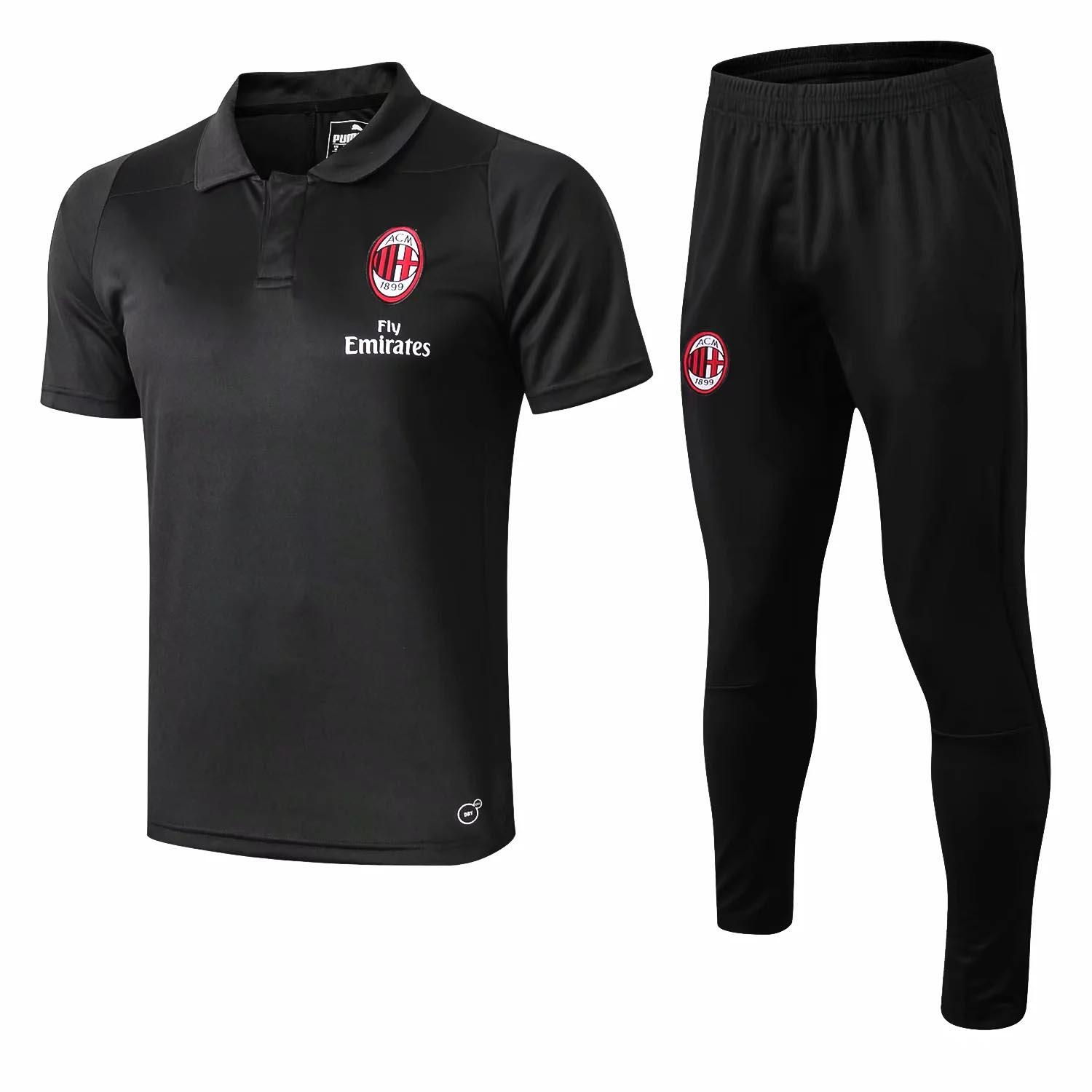 19 20 huality AC Soccer Jersey adult short sleeve kit 18 19 Milan HIGUAIN Soccer Shirt KAKA training suit CALHANOGLU BONUCCI football shirt