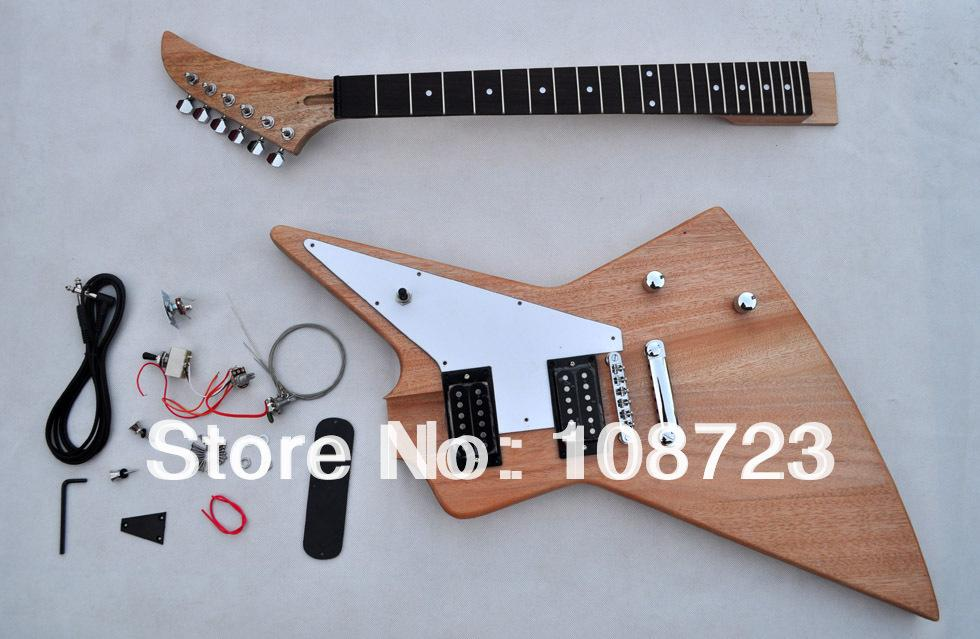 DIY Guitars Kit Unfinished Guitar New Explorer Custom Shop 50th Anniversary  Korina