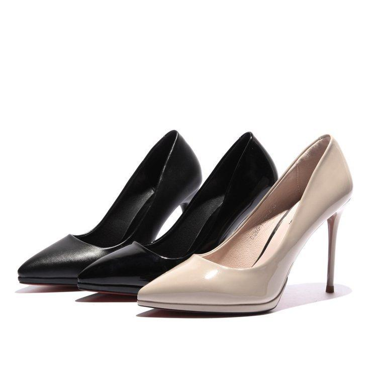 4e7f7f7a59b5 Dress 2019 Spring And Autumn New Korean Work Shoes Pointed Patent Leather  Platform Stiletto Heels Fashion Single Shoes Women Mens Slippers Footwear  From ...