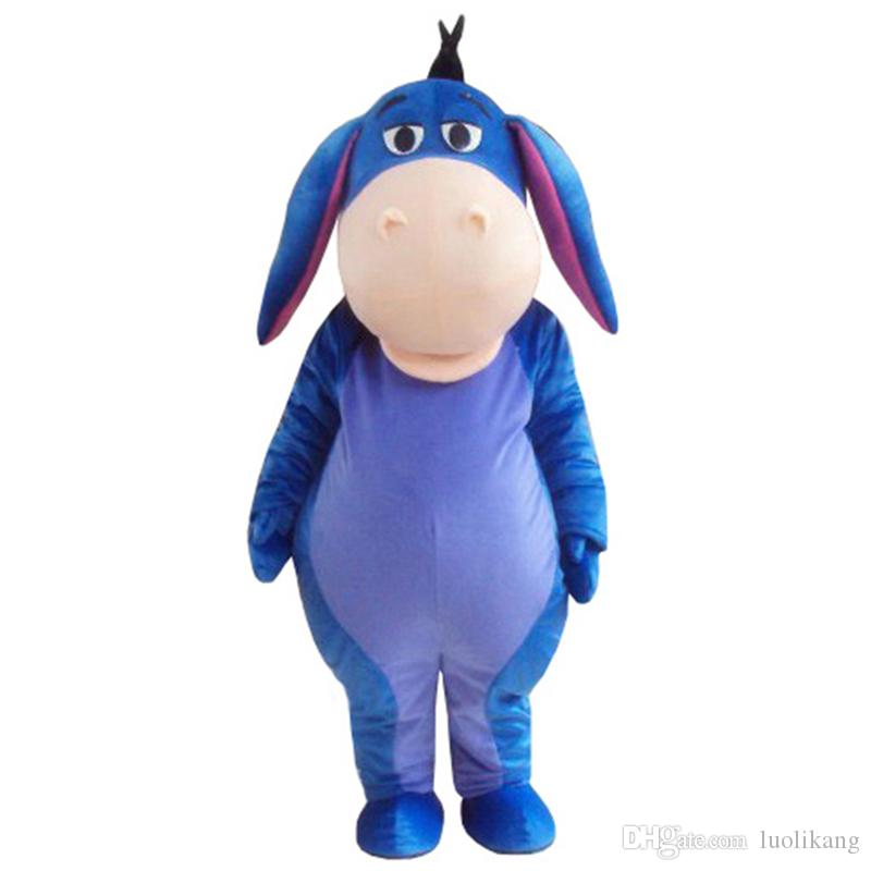d5f459b897e8 Christmas Costumes Halloween Christmas Blue Eeyore Donkey Adult Mascot  Costume For Festival Historical Costumes Children Halloween Costumes From  Luolikang