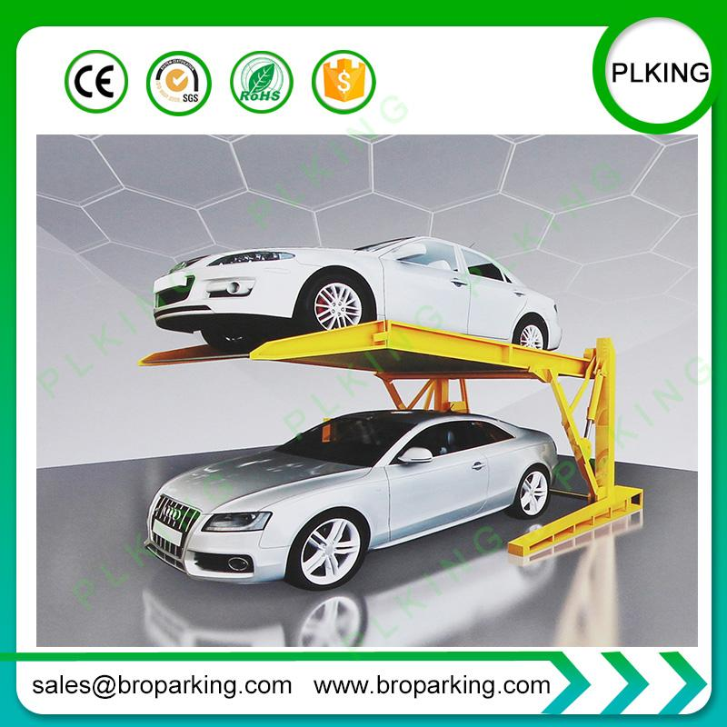 2019 Best Home Car Park Lift 2 Post Tilting Lift For Compact Small