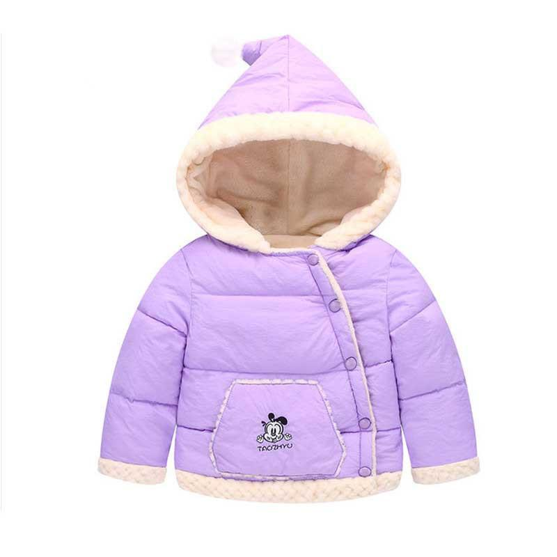 4587879b63ba BibiCola Winter Jacket Down Cute Hooded For Girl Boys Toddler Coat ...