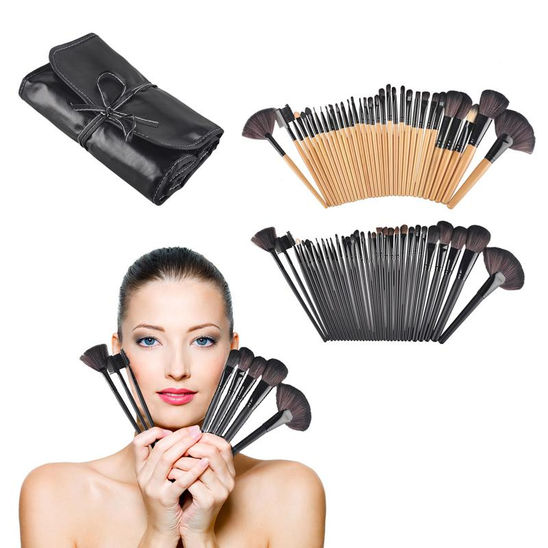 ae3c1d67b2 Professional Wood Makeup Brushes Roll Up Case Professional Multipurpose Cosmetic  Make Up Brush Set 0605034 Elf Brushes Makeup Products From Szloop