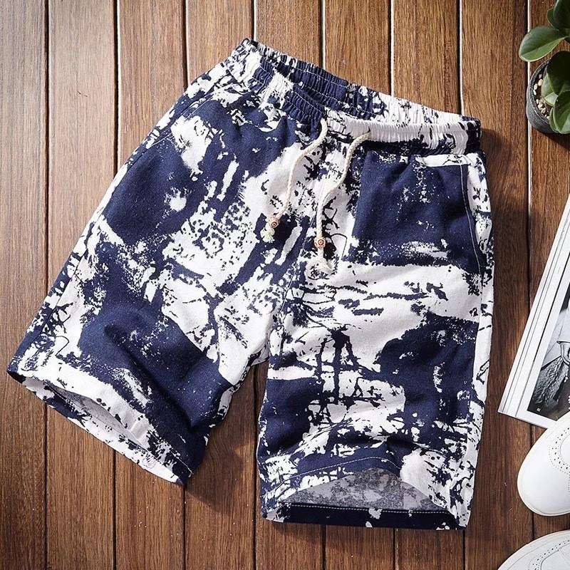 Compre 2019 Calções De Praia Shorts Casuais Homens Cordão Impresso  Streetwear Masculino Mens Verão Homens De Algodão De Linho Moda Praia De  Insightlook 8b0d4bcd826ae