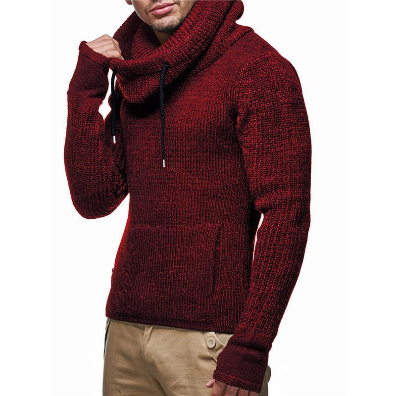 80a79b6a05b2 Compre Hombres Otoño Invierno Grueso Cálido Cuello Alto Suéter De Navidad Jersey  Para Hombre Casual Jersey Hombre Buena Calidad Prendas De Punto Para Hombre  ...