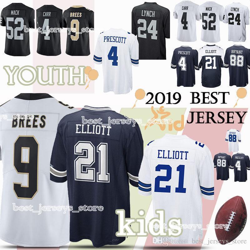 10e4cd6e Kids Dallas Cowboys New Orleans Saints Oakland Rainders jerseys child 9  Drew Brees 88 Dez Bryant jersey YOUTH High-quality