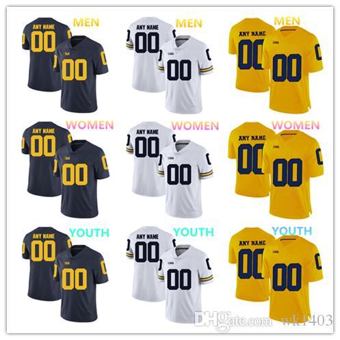 sports shoes 47f27 6f8c1 NCAA Michigan Wolverines jerseys Michael Onwenu 50 Phillip Paea 58 Greg  Robinson 79 jersey MEN WOMEN YOUTH yellow blue White football jersey