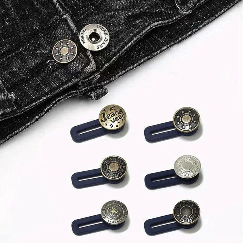 10шт Металл Выдвижной пряжка Кнопки для одежды Джинсы Регулируемое Waistline Увеличение талии Fastener Расширенная Баттона