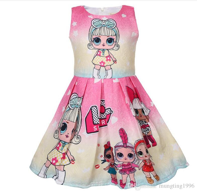 ee7039bde699e ins hot sales baby girls summer dress 2019 kids girls princess dress design  little baby infant party costume dresses
