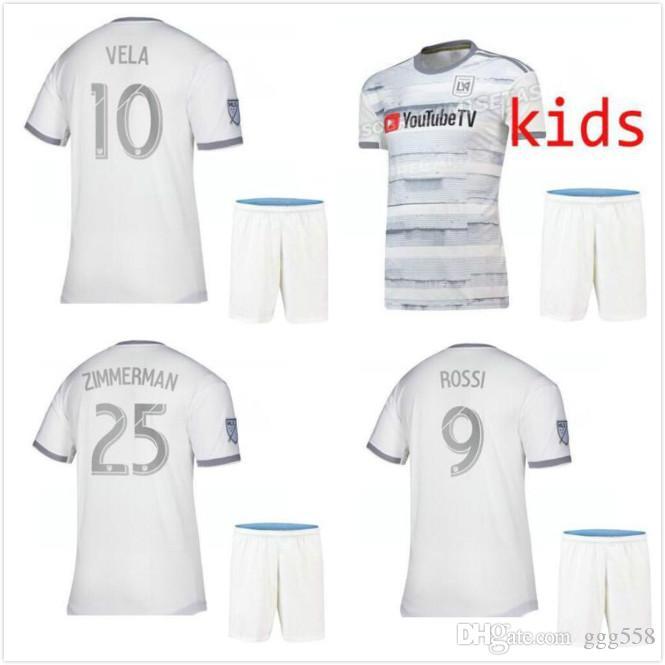 buy online 26f32 5db1e 19 20 Los Angeles fc Carlos VELA LAFC Soccer Jerseys kids kits 2019 2020  GABER ROSSI CIMAN ZIMMERMAN Football Shirt Free shipping