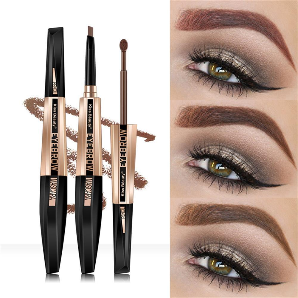 Makeup Dual Ended Eyebrow Pencileyebrow Mascara Brush Bown Coffee