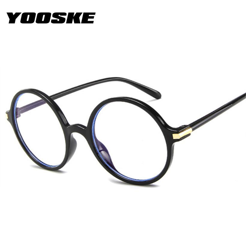 bc5fe9a751 YOOSKE Women Round Glasses Frame Fashoin Optical Computer Glasses ...