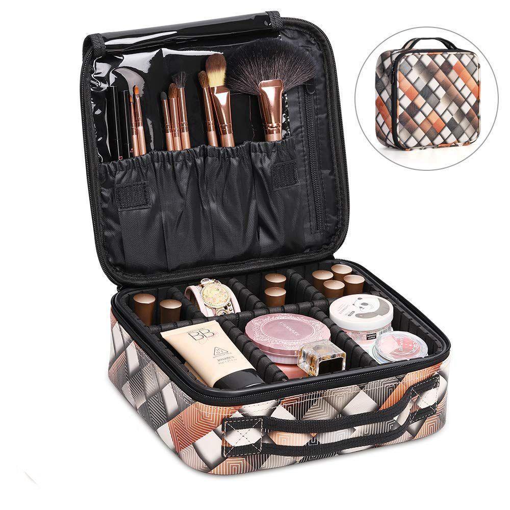 7bcc1faf0e01 AUAU-Travel Makeup Bag Portable Makeup Train Case Mini Cosmetic ...