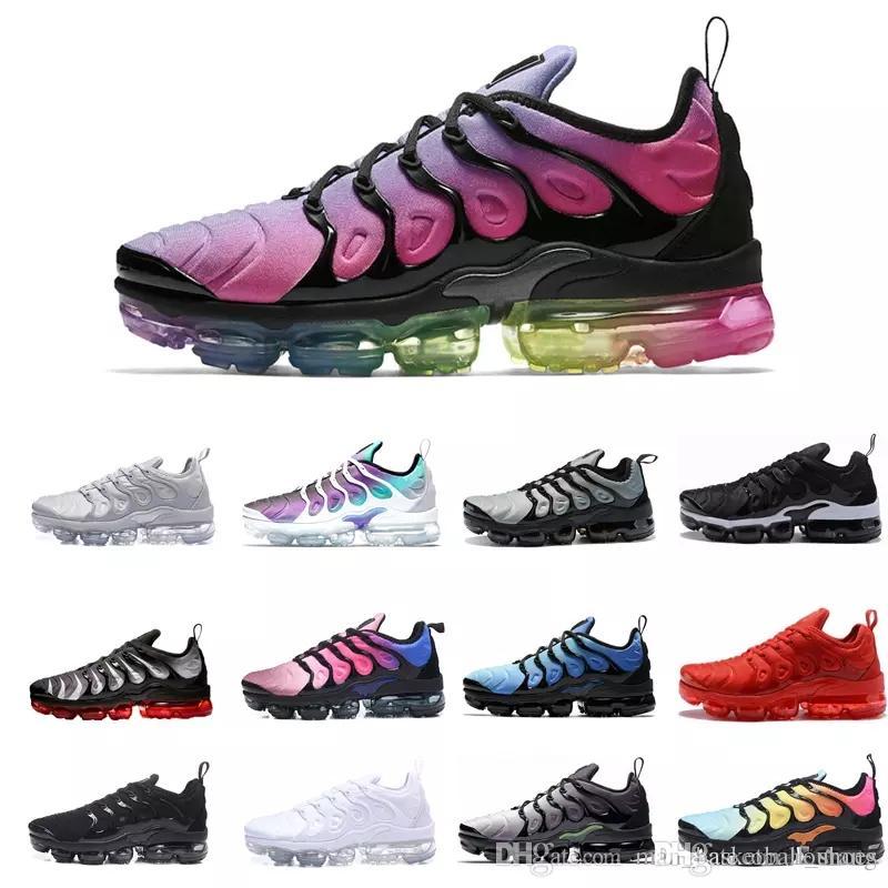 8643b48ed8bd2 Acquista Nike TN Plus Vapormax Air Max Airmax 2019 TN Plus Scarpe Da  Ginnastica Da Uomo Donna Sneakers PURE PLATINUM Triple Nero Bianco USA Cool  Lupo Grigio ...