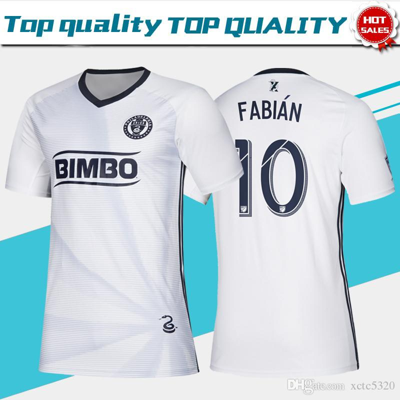wholesale dealer 31a7a 7c48f 2019 MLS Philadelphia Union Away White Soccer Jerseys 19/20 #9 PICAULT #11  BEDOYA #19 BURKE Soccer Shirt 2019 Philadelphia Football Uniform