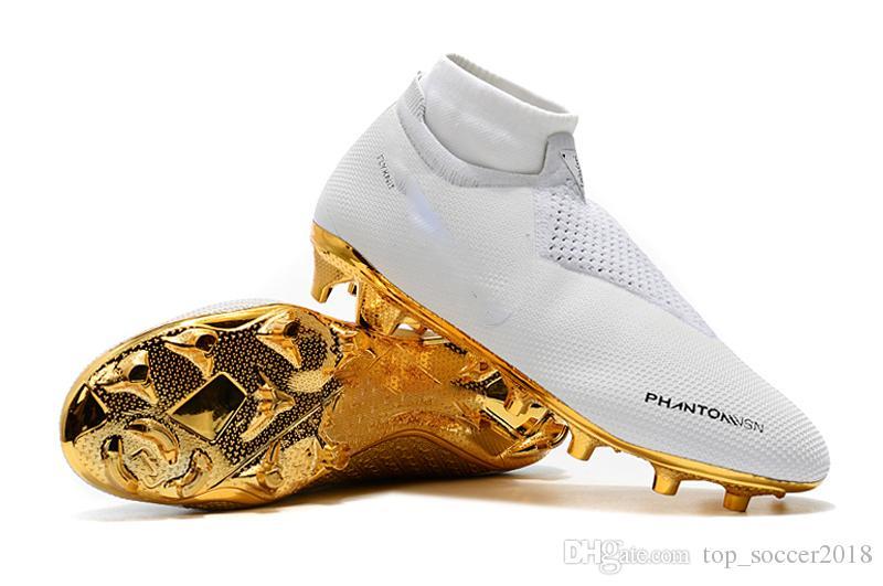 df98d9ea3a597c Acquista I Più Venduti Tacchetti Da Calcio All'ingrosso In Oro Bianco  Ronaldo CR7 Original Scarpe Da Calcio Phantom VSN Elite DF FG Scarpette Da  Calcio Da ...