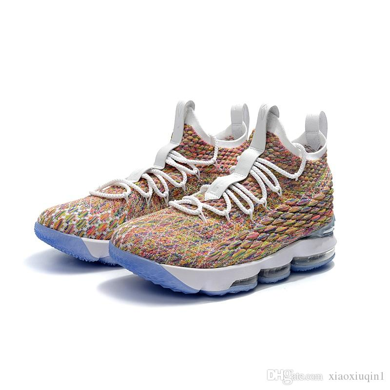 purchase cheap 0ed44 4bddb what the lebron 15 mens basketball shoes for sale black gold MVP Christmas  BHM Oreo youth kids Generation sneakers boots with original box
