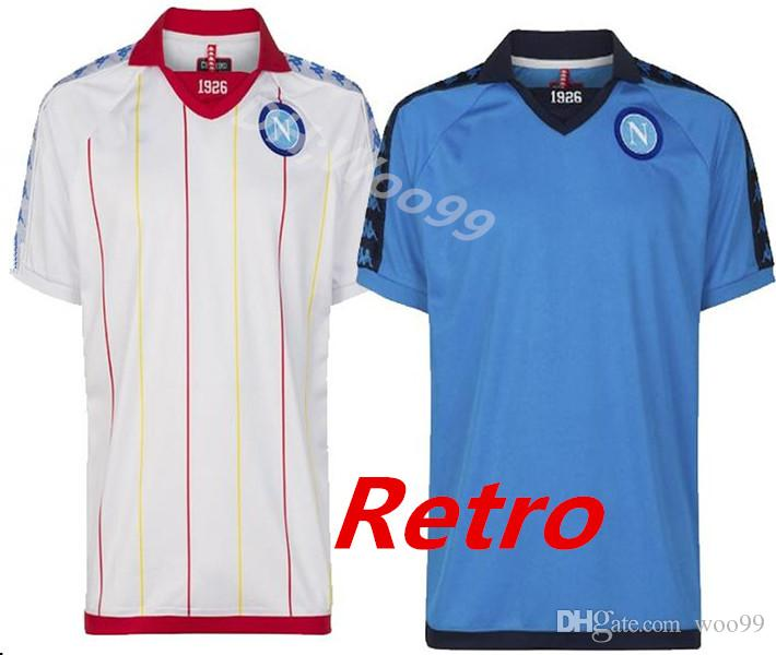 2018 2019 Napoli 1982 1983 RETRO Camiseta De Fútbol Napoli 82 83 ZIELINSKI  HAMSIK INSIGNE MERTENS CALLEJON ROG Camiseta De Fútbol Para Hombre Por  Woo99 c7c922540f0d5